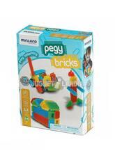 Jeu Pegy Bricks 36 Pièces Miniland 94042