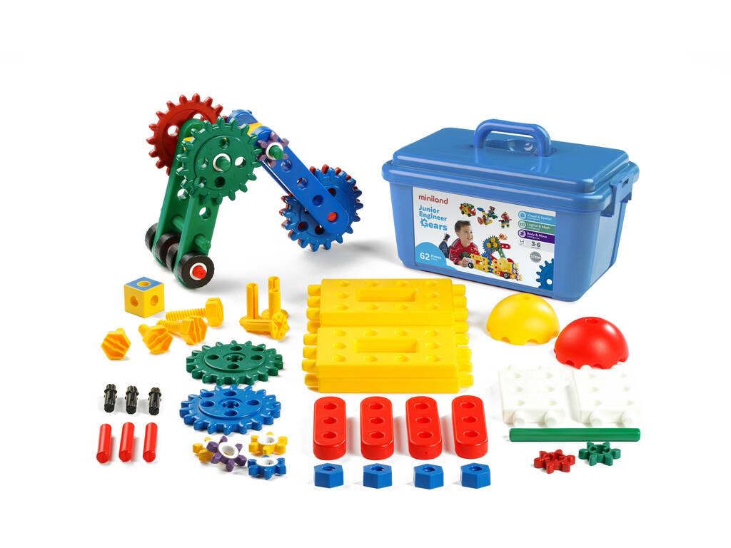Jogo Junior Engineer Gears 62 Peças Miniland 95003