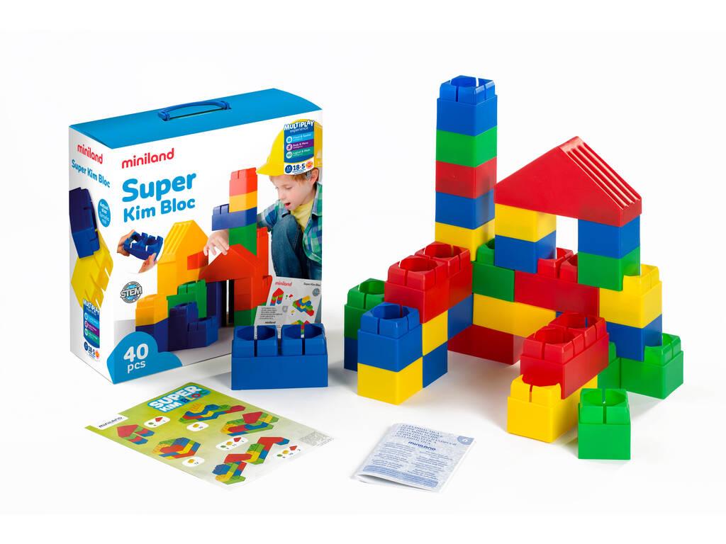 Jogo de Construção Super Kim Bloc 40 Peças Miniland 32470