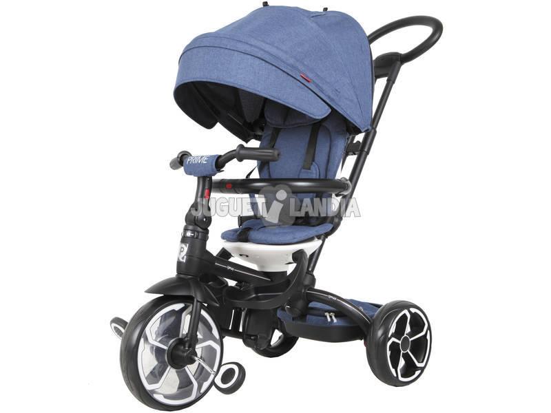Triciclo Prime 4 en 1 Azul Qplay T552