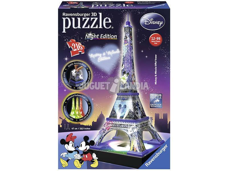 Puzzle 3D Torre Eiffel Mickey e Minnie com Luz Ravensburger 12520