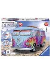 Puzzle 3D Camper Volkswagen T1 Indian Summer 162 piezas Ravensburger 12527