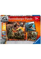 Jurassic World Puzzle 3 en 1 Ravensburger 8054