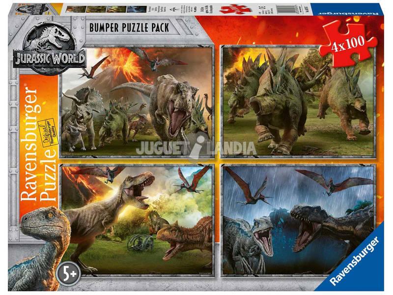 Jurassic World Puzzle 4x100 Peças Ravensburger 6976