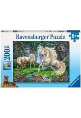 imagen Puzzle XXL Unicornios en el Rio 200 Piezas Ravensburger 12838