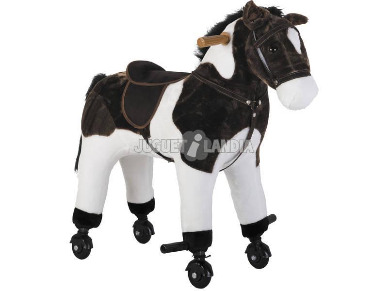 Cavallo con ruote e suoni 65x33x64 cm.