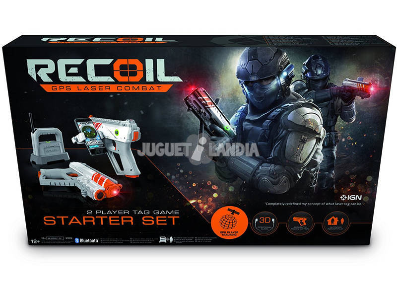 Recoil Kit de Inicio Pistolas Láser GPS para 2 Jugadores Goliath 90515