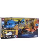Helicóptero y Lancha De Rescate Con Accesorios
