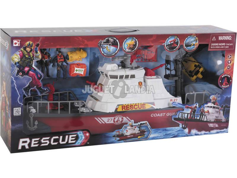 Barco Resgate Marinho Com Acessórios