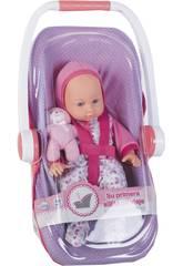 Babypuppe 35 cm. mit Reise-Stuhl