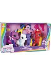 Famille 6 Licornes de couleurs