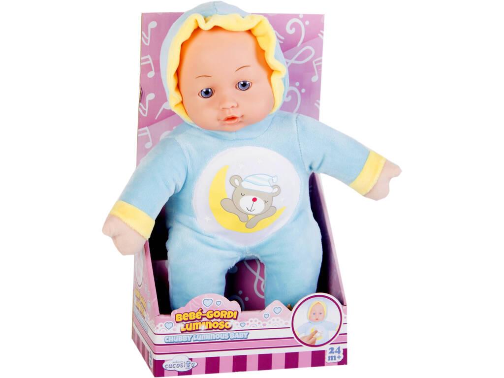Muñeco Bebé Gordete Luminoso 30 cm.