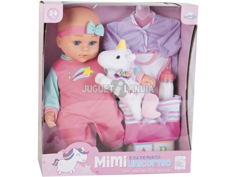 Muñeca Bebé 40 cm. con Unicornio y Accesorios