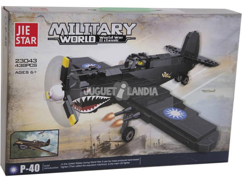 Jogo de Construção Avião Militar 438 Peças