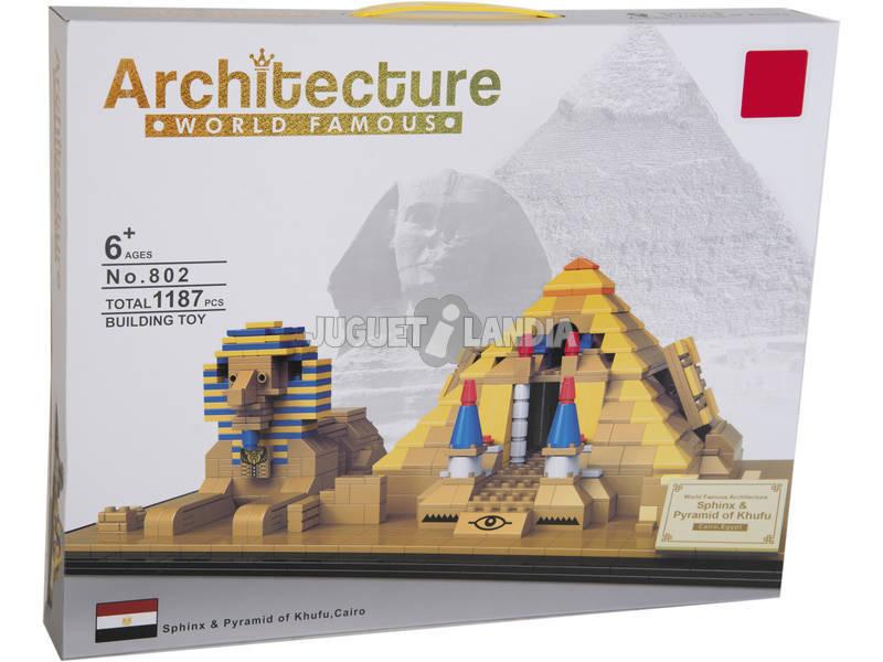 Blocos De Construção Pirâmide e Esfinge 1187 Peças