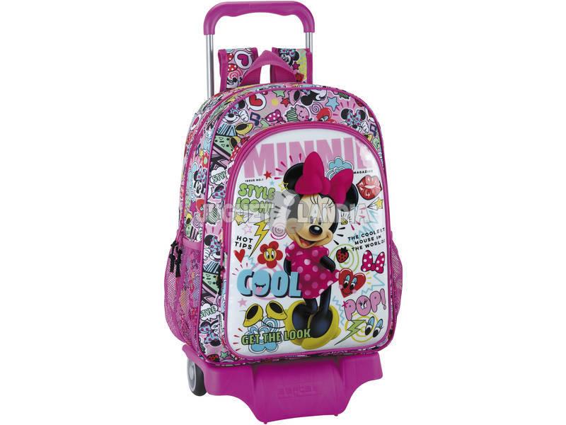 Mochila Carrinho Escola Minnie Mouse Cool Safta 611848160