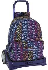 Sac à Dos avec Trolley évolutive Benetton Spina Safta 611850860