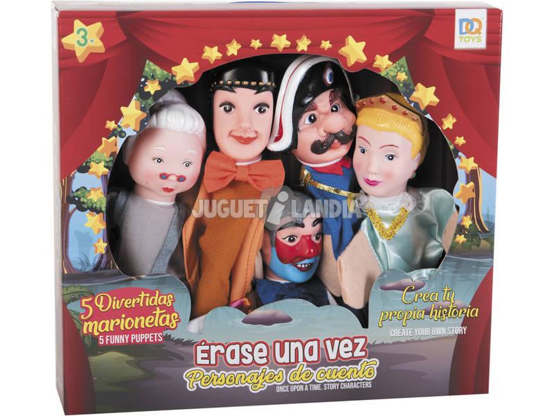 Set 5 Marionetas Personajes de Cuentos