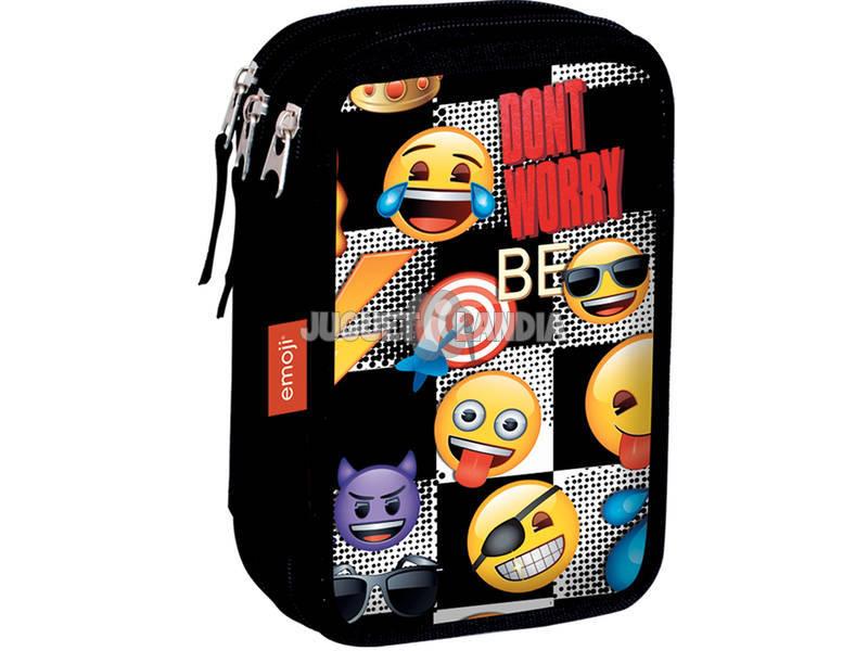 Estojo Triplo Emoji Sticker Perona 55172