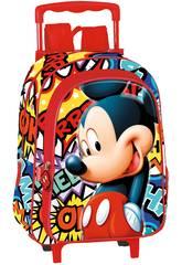 Kinderrucksack mit Rädern Mickey OK Perona 55657