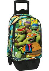 Mochila Con Carro Turtles Border Perona 53966