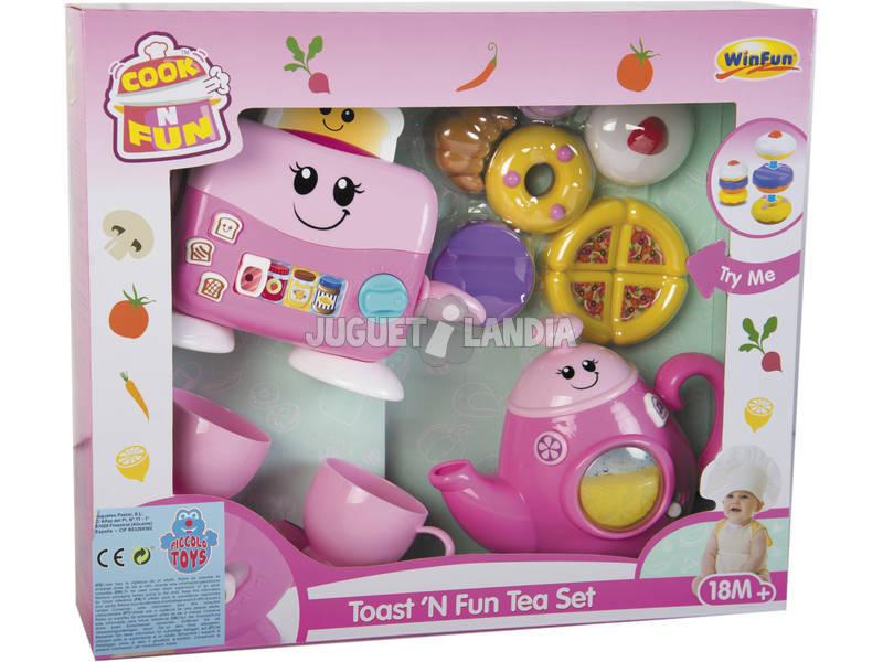 Set tostapane e teiera interattivo rosa