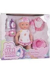 Baby-Puppen-Set 30 cm. Baby und Urin mit Zubehör, Nahrung und Urinal