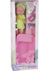 imagen Set Muñeca Bebé 30 cm. con Bañera y Accesorios Baño