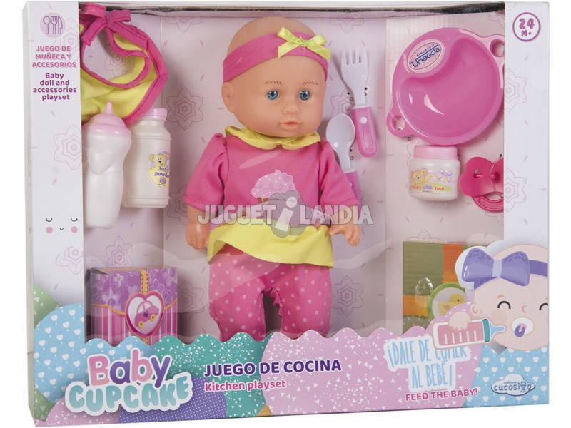 Set Boneca Bebé 30 cm. Com Acessórios 10 peças