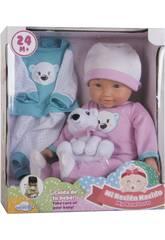 imagen Babypuppe Set 36 cm. mit Plüschtiere und Kleidung