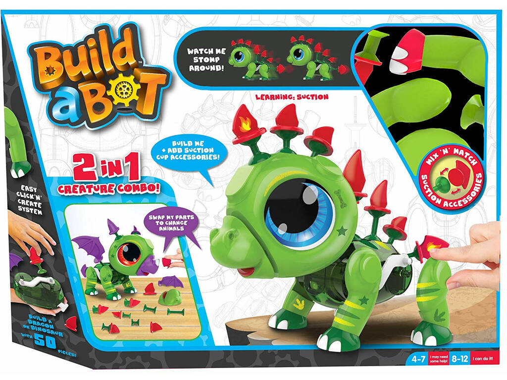 Build a Bot Mascotte Robot 2 in 1 Dino/Drago Famosa 700014667