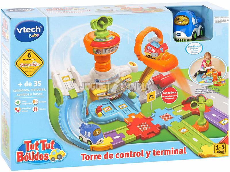 Tut Tut Bolidos Torre de Control y Terminal con Miguel El Jet Vtech 512622