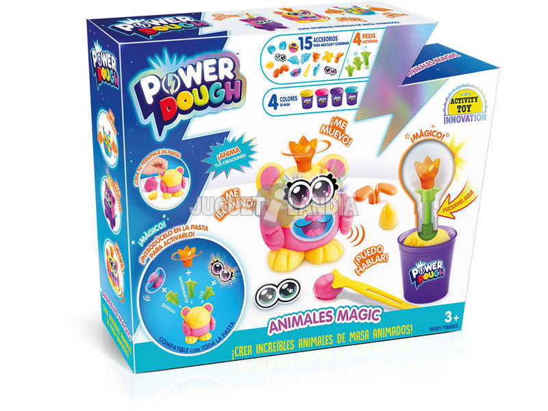 Power Dough Kit Animais Mágicos Canal Toys DP016