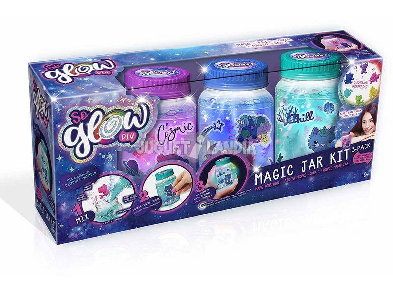 So Glow Magic Jar Cria o teu Frasco da Calma Pack 3 Unidades Canal Toys SGD003
