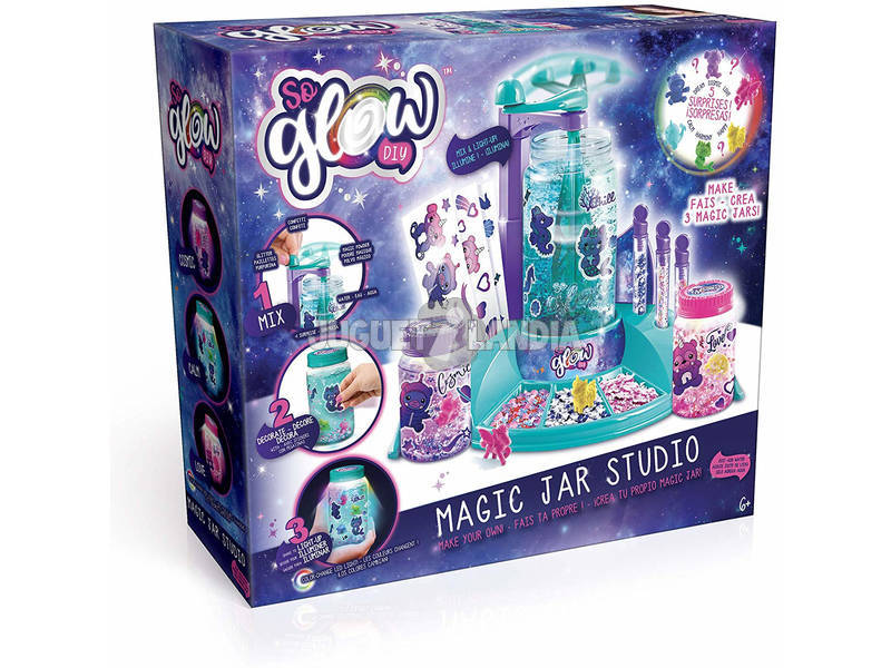 So Glow Magic Jar Studio Cria o teu Frasco da Calma Canal Toys SGD004