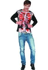 Kostüm für Erwachsene Zombieskelett Größe XL