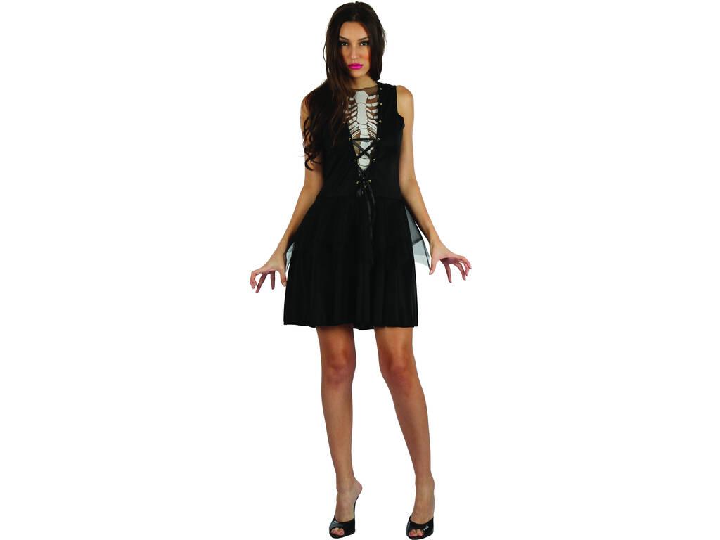 Disfraz Adulto Mujer Esqueleta de la Oscuridad Talla L