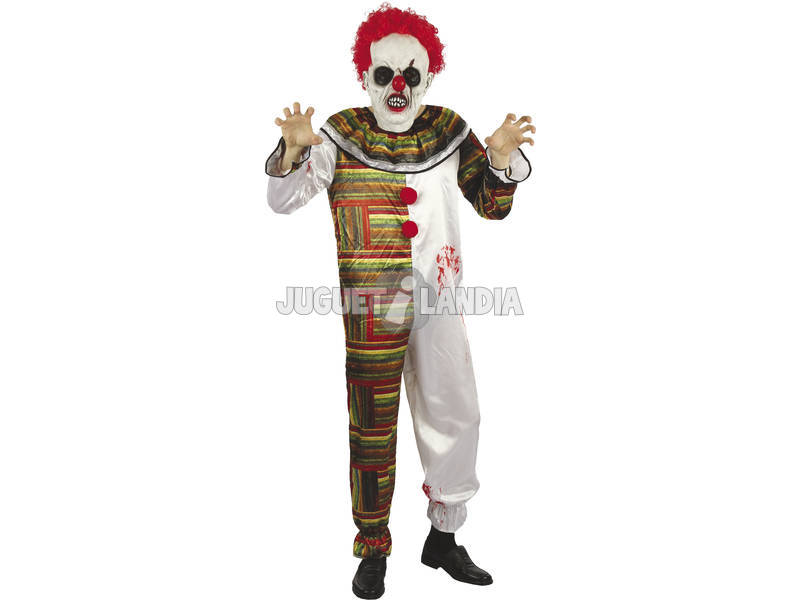 Costume Adulto Uomo Pagliaccio Orripilante M