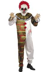 imagen Disfraz Adulto Hombre Payaso Horripilante Talla L
