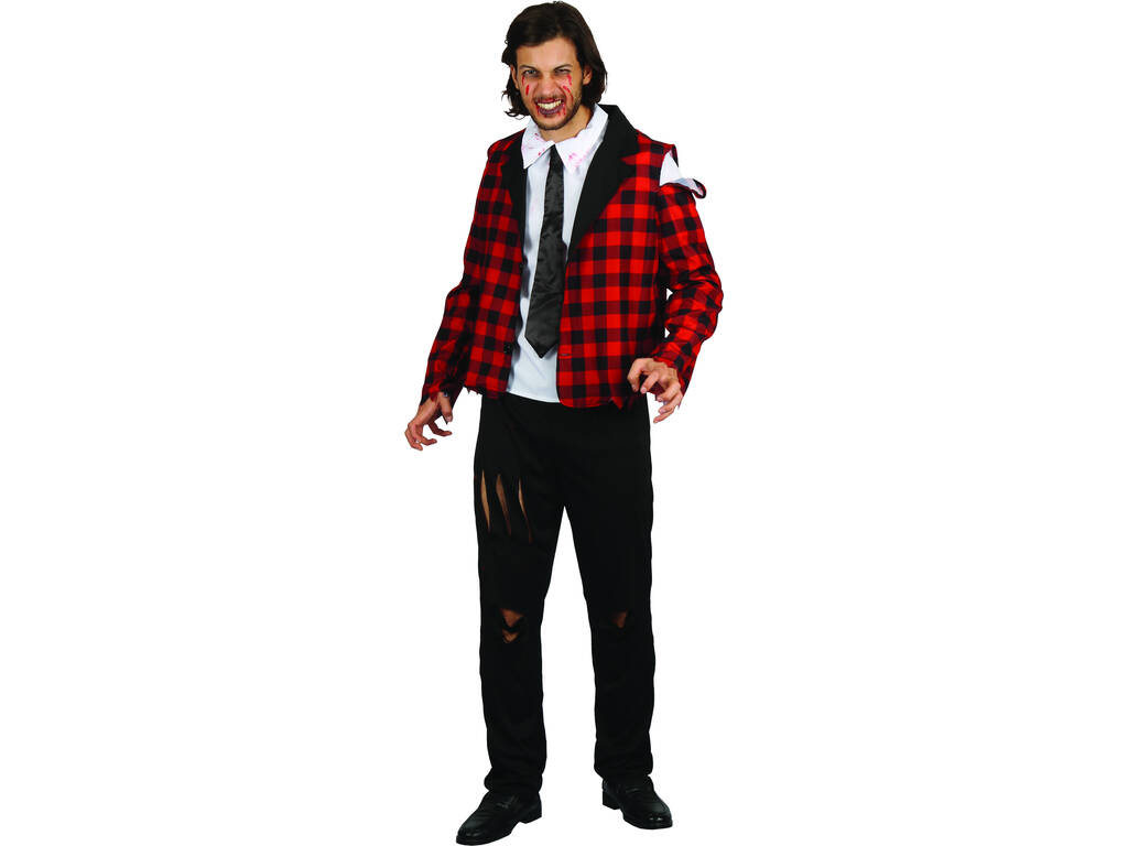 Disfraz Adulto Hombre Colegial Zombie Talla M