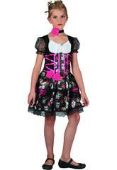 Disfraz Niña Día de los Muertos Talla M
