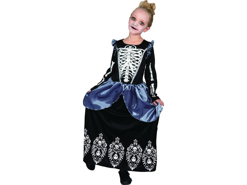 Disfarce de Menina Rainha Esqueleto Tamanho S