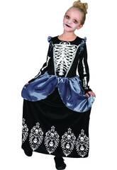 imagen Disfraz Niña Reina Esqueleto Talla S