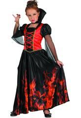 imagen Disfraz Niña Vampiresa Fuego Talla M