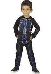 imagen Disfraz Bebé Esqueleto Rayos X Talla S