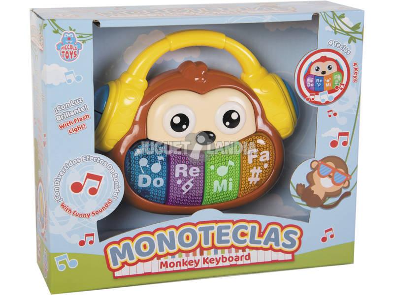 Macaco 17 cm. com Teclado Musical