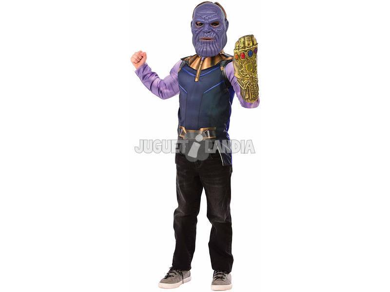 Disfraz Niño Thanos Deluxe Pecho con Máscara y Guantelete Rubies 34188