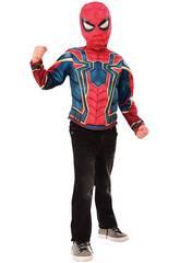 Disfraz Niño Iron Spider Deluxe Pecho y Máscara Rubies 34184
