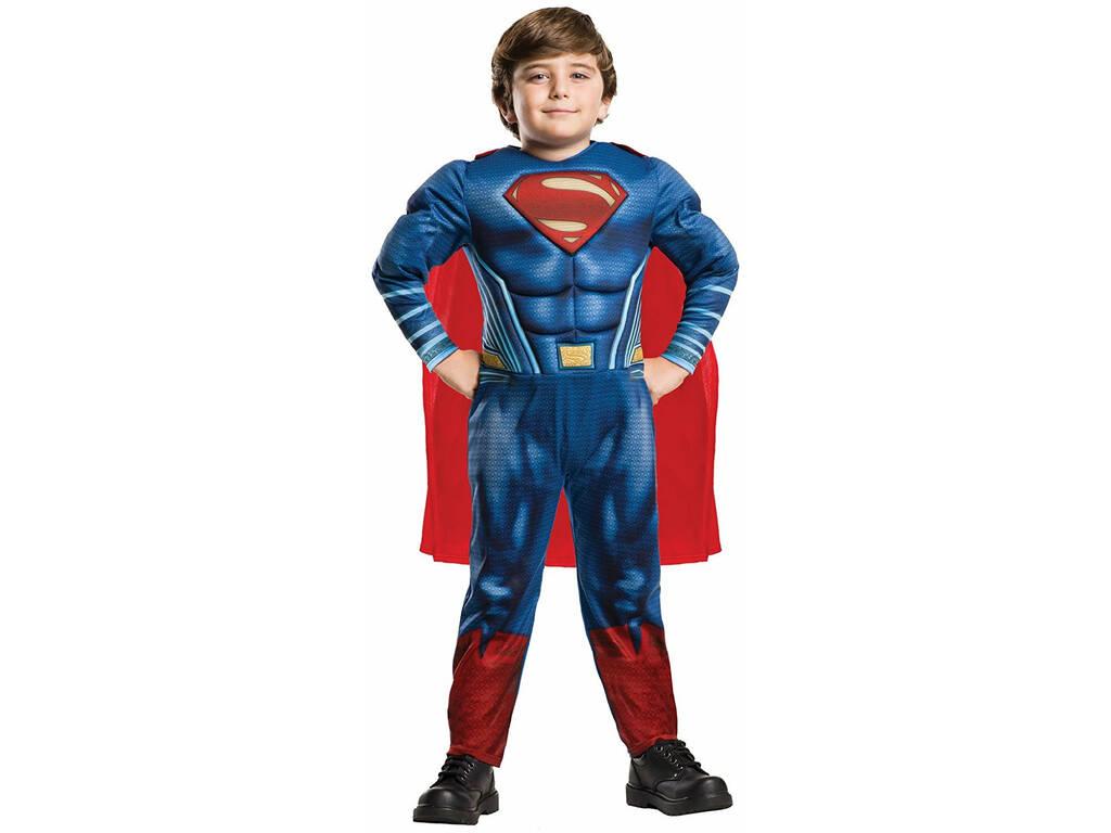 Disfarce de Crianças Superman Deluxe Tamanho M Rubies 640813-M