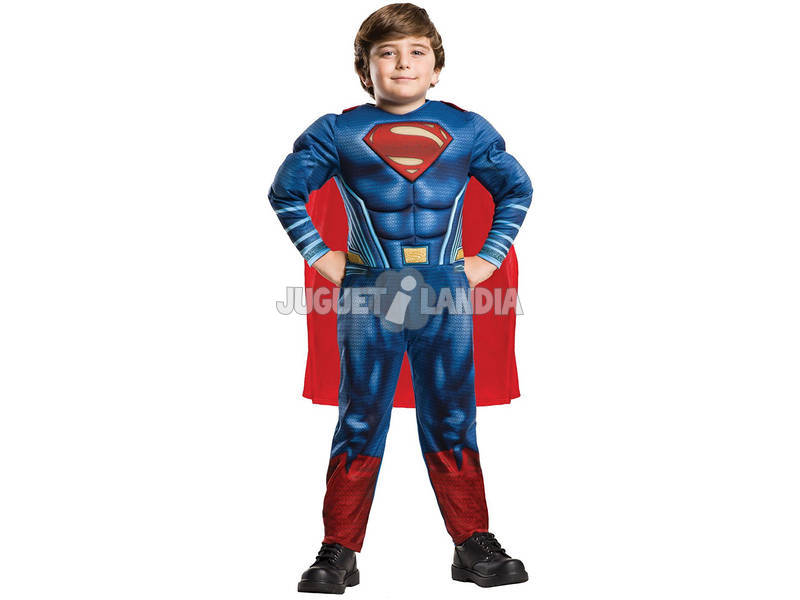 Disfarce de Crianças Superman Deluxe Tamanho L Rubies 640813-L